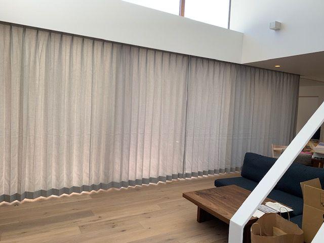 オーダーカーテンの施工事例 宮崎市