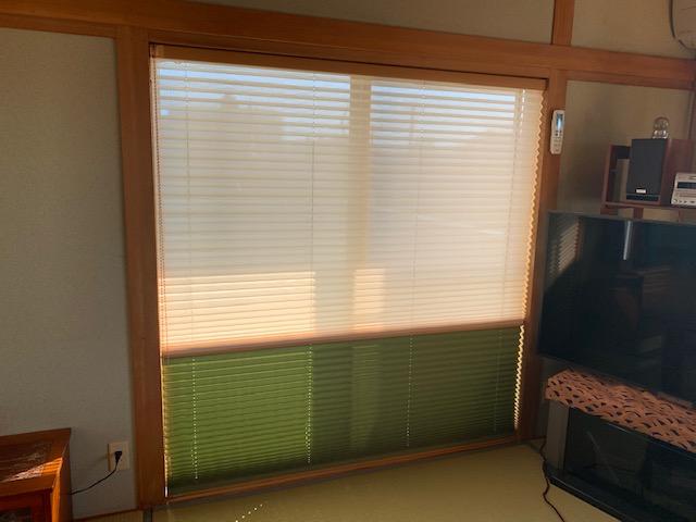 和室のプリーツスクリーン 施工事例