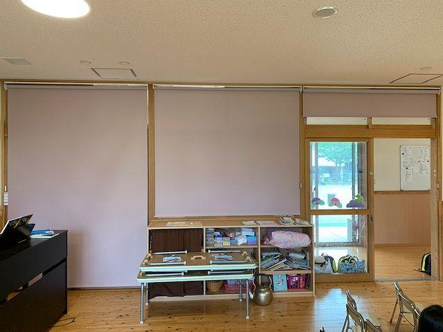 西都カトリック幼稚園のロールスクリーン 施工事例