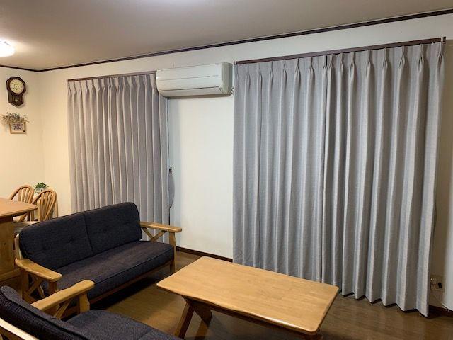 掃き出し窓のカーテン