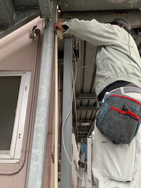 宮崎市のアパートで電気工事