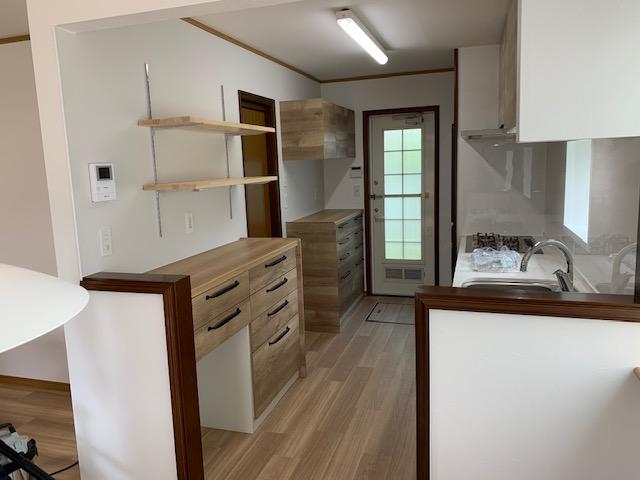 システムキッチン入替と台所のリフォーム完成③