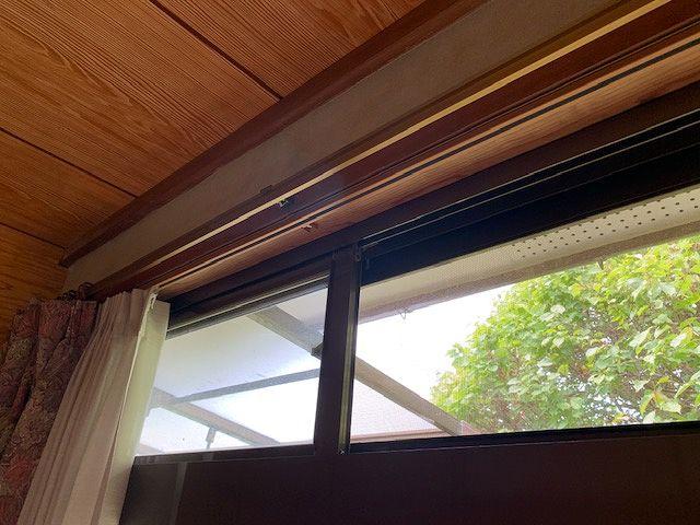 和室縁側のカーテンレール